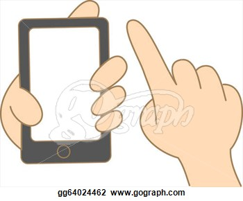 Use Touch Screen Mobile Phone  Clipart Drawing Gg64024462   Gograph