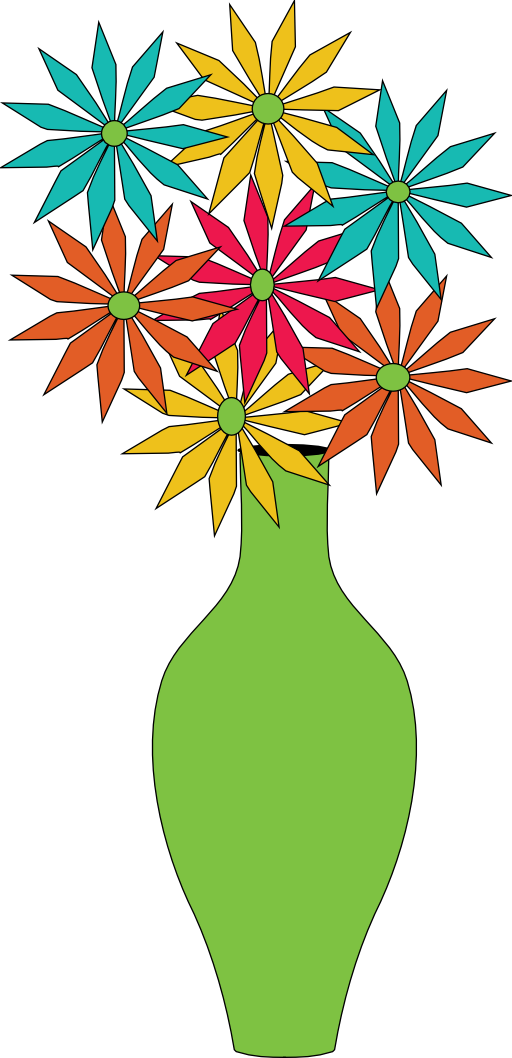 Vase Of Flowers Clip Art   Clipart Best