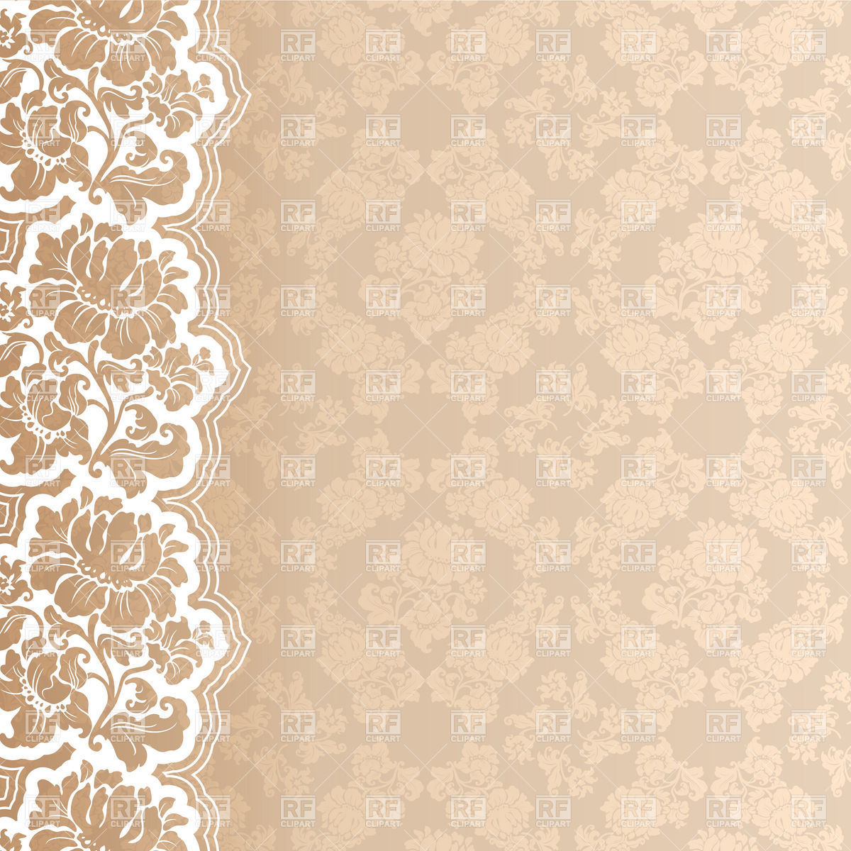 Wallpaper With Lace Border Download Royalty Free Vector Clipart  Eps