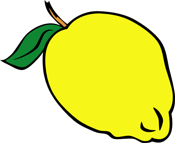 Whole Lemon Clip Art At Clker Com   Vector Clip Art Online Royalty
