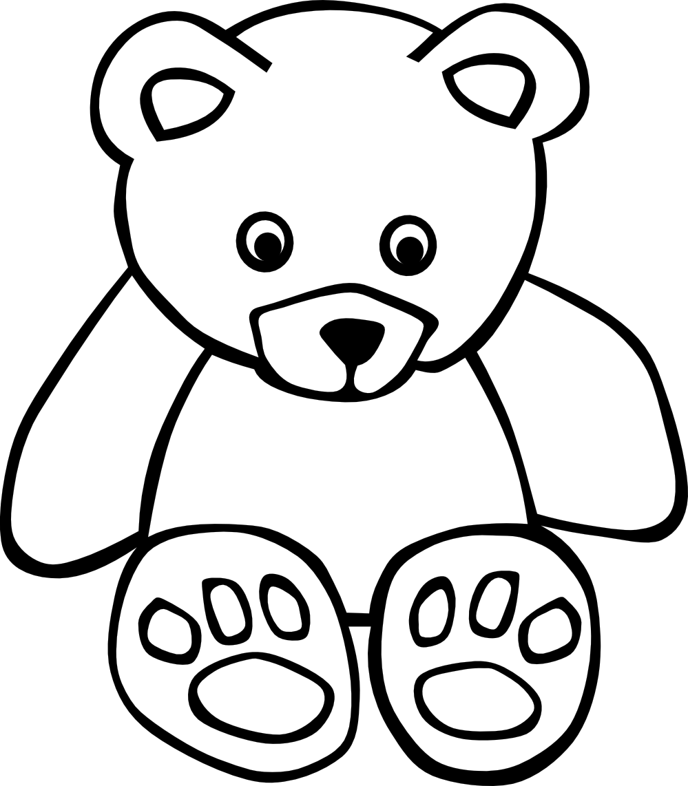 Black And White Bear : White bear clipart suggest