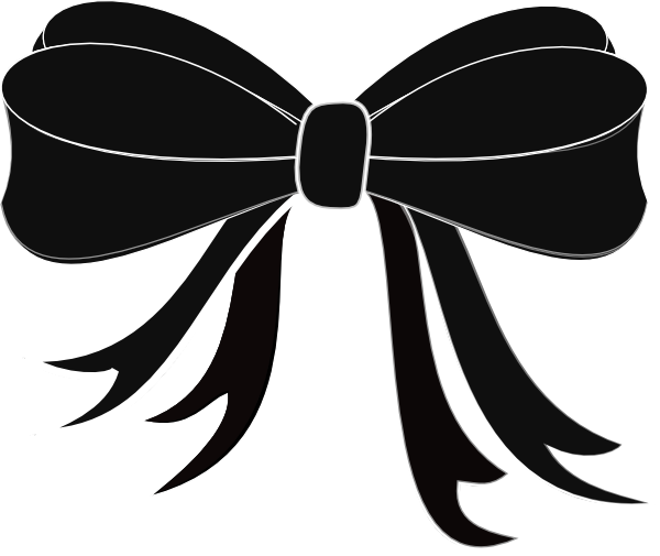 And Black White Ribbons Clipart - Clipart Suggest