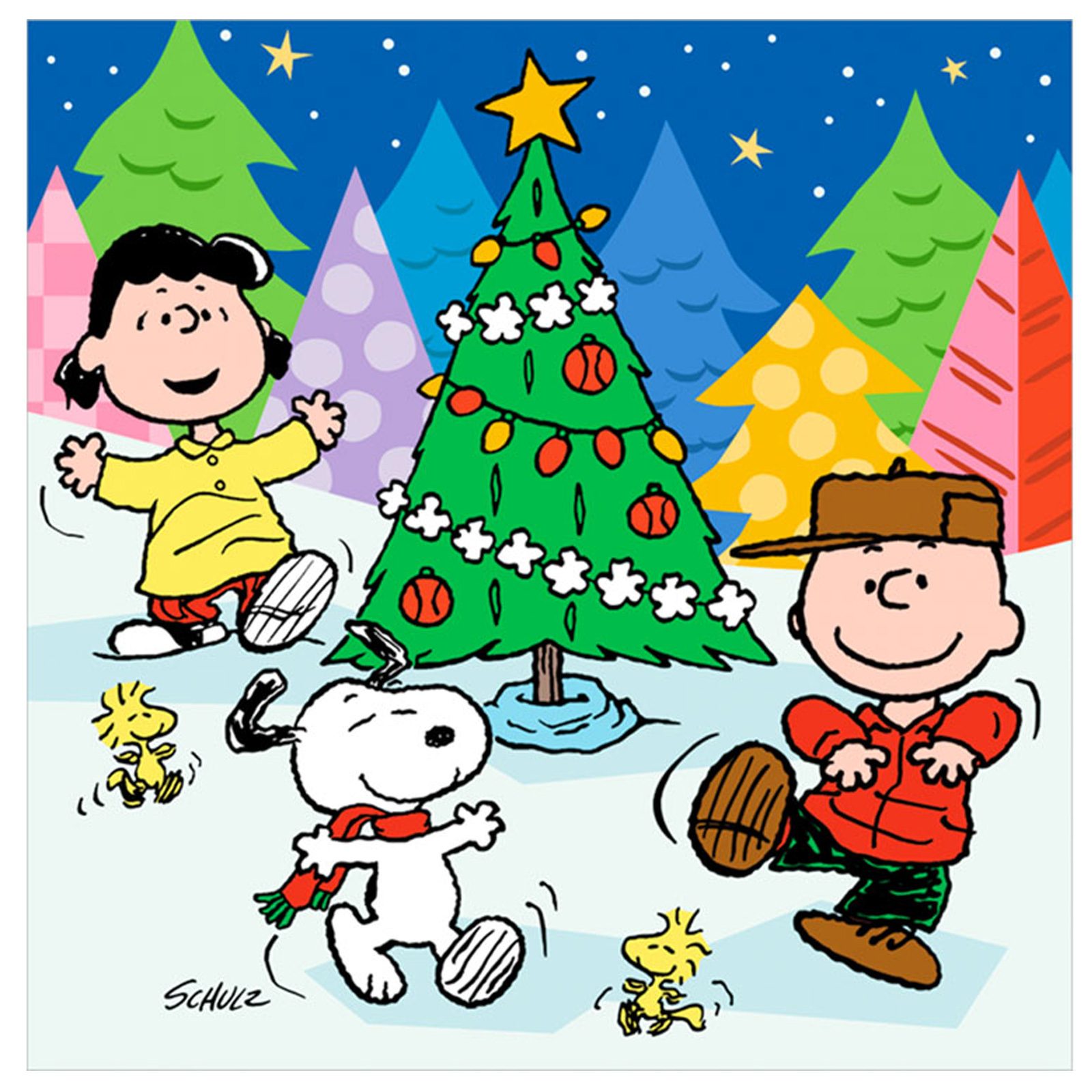 Charlie Brown Peanuts Comics Snoopy Christmas F Wallpaper   1600x1600