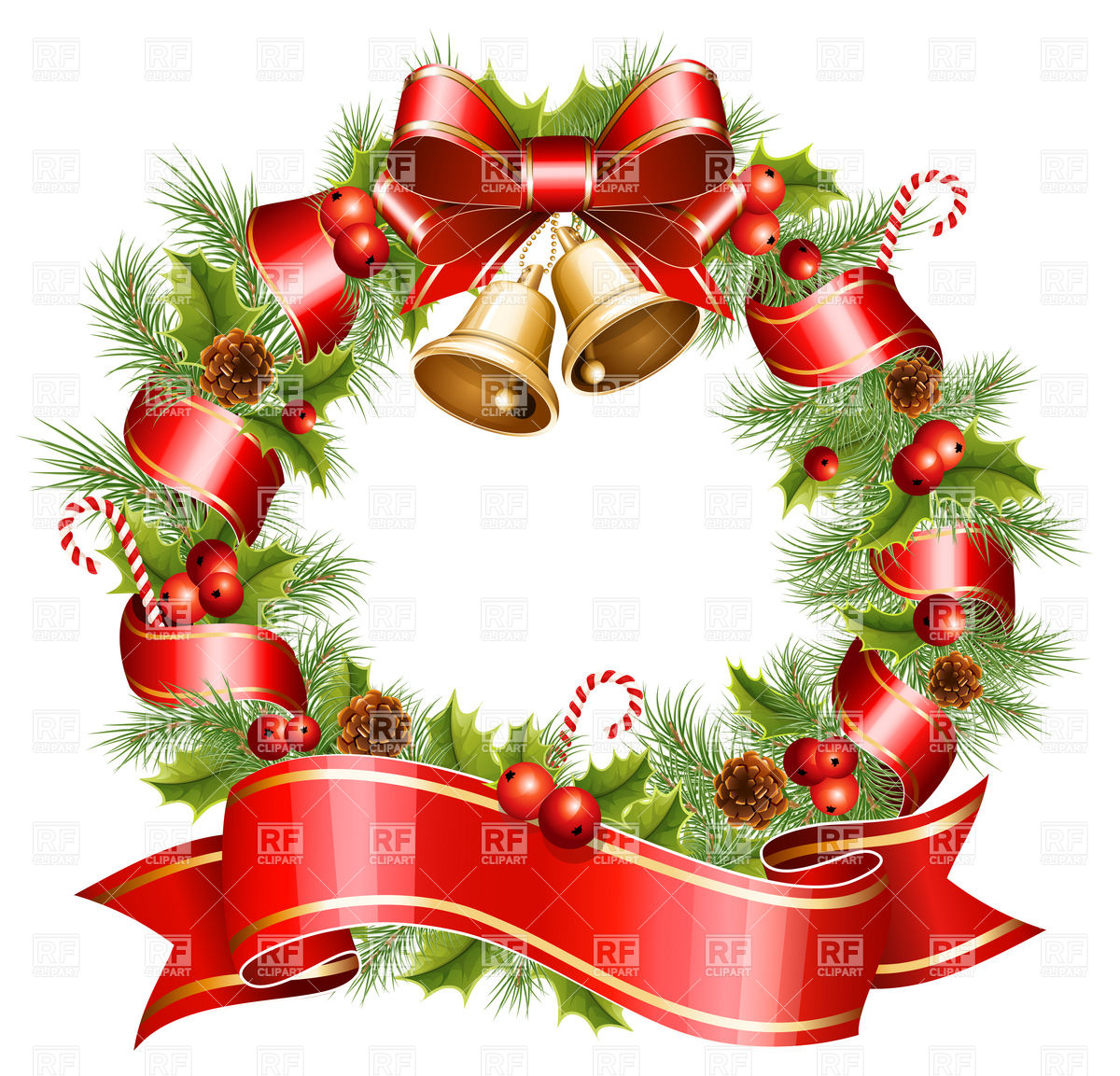 Christmas Wreath Holiday Download Royalty Free Vector Clip Art Image