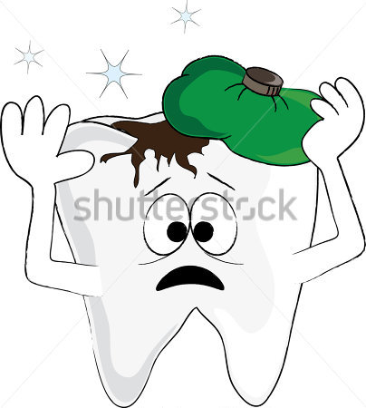 Clip Art Illustration Of A Cartoon Tooth In Pain From A Cavity