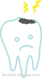 Clip Art Of A Tooth With A Cavity
