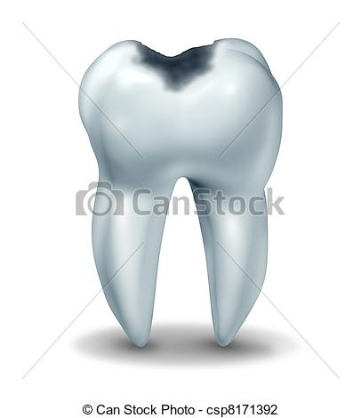 Clip Art Of Cavity Tooth Decay Disease Symbol   Tooth Cavity Symbol