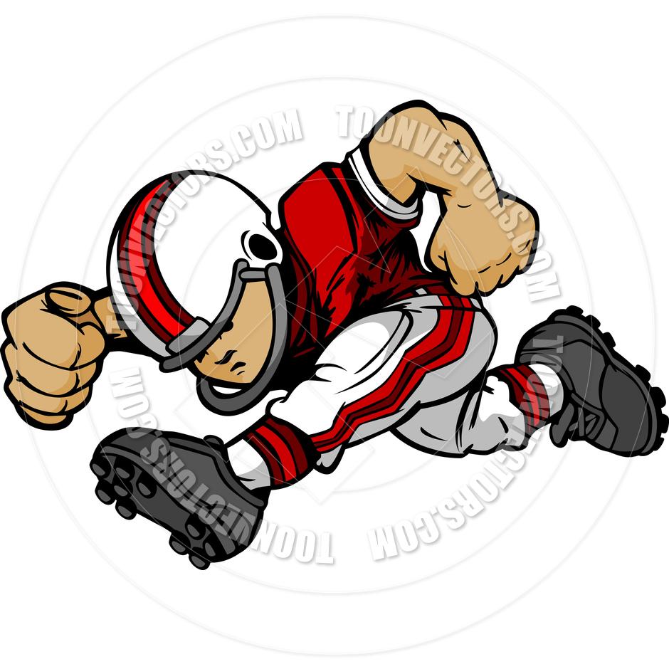 Football Player Running Clipart - Clipart Kid