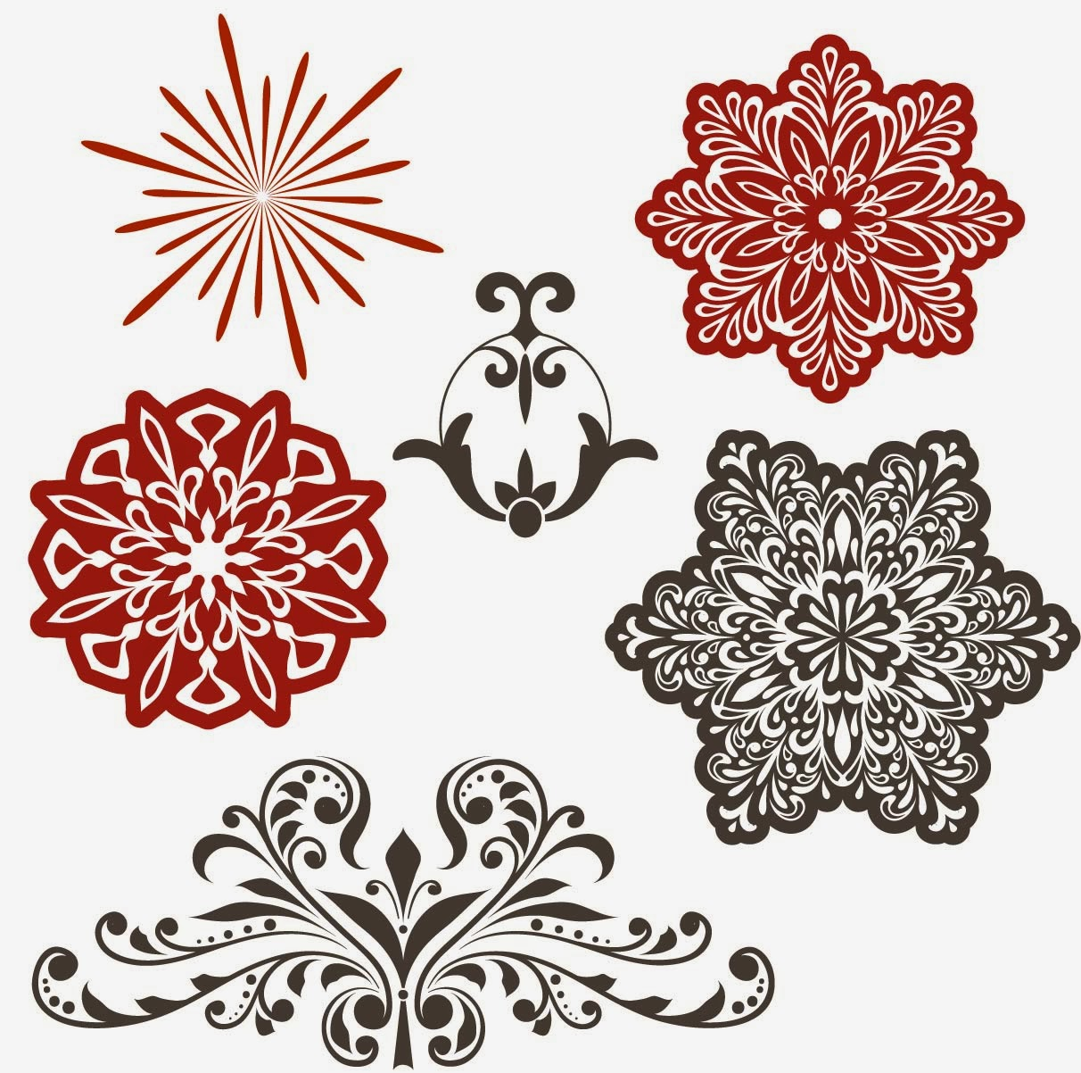 Free Christmas Decorative Designs Elements Vector Clip Art Download