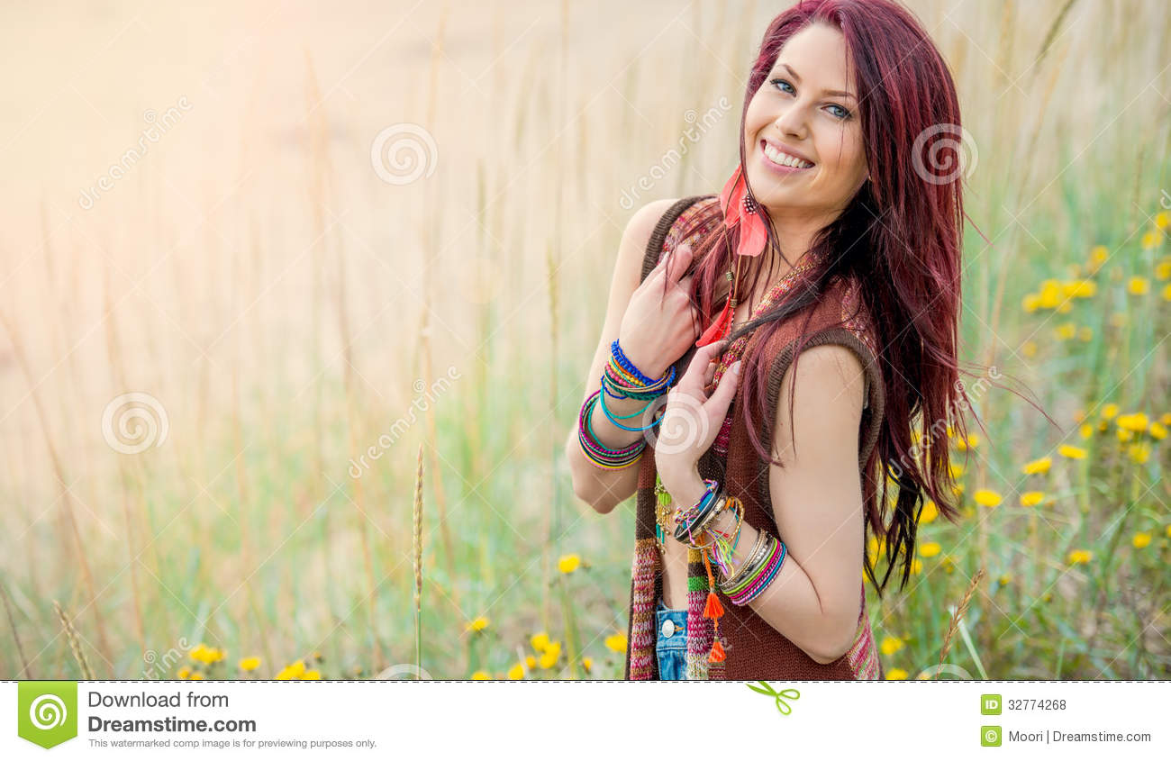 Free Stock Photos  Young Hippie Girl In Boho Fashion  Image  32774268