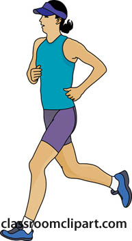 Jogging Clipart   Lady Jogging With Hat   Classroom Clipart