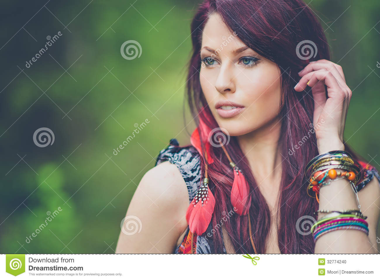 Stock Photo  Young Hippie Girl In Boho Fashion  Image  32774240