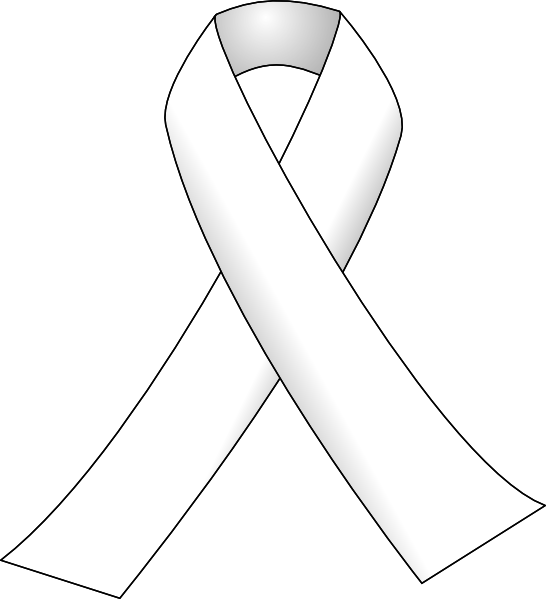 White Ribbon 3 Clip Art At Clker Com   Vector Clip Art Online Royalty