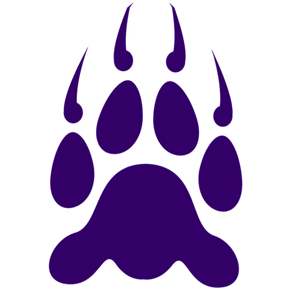 21 Purple Paw Prints Free Cliparts That You Can Download To You