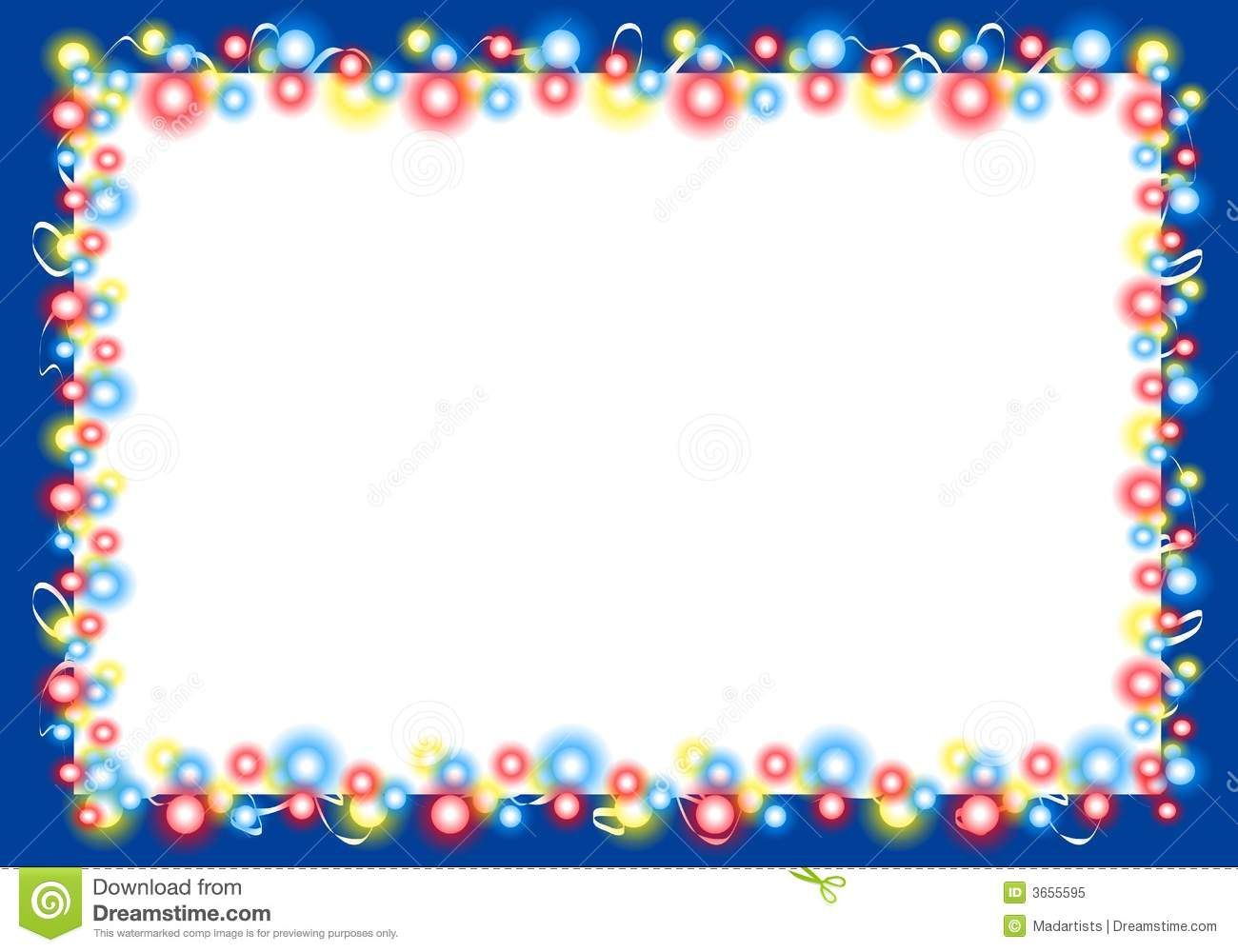 Background Border Of Glowing Christmas