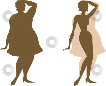 Changes Before And After Diet Stock Vector Clipart Changes In The