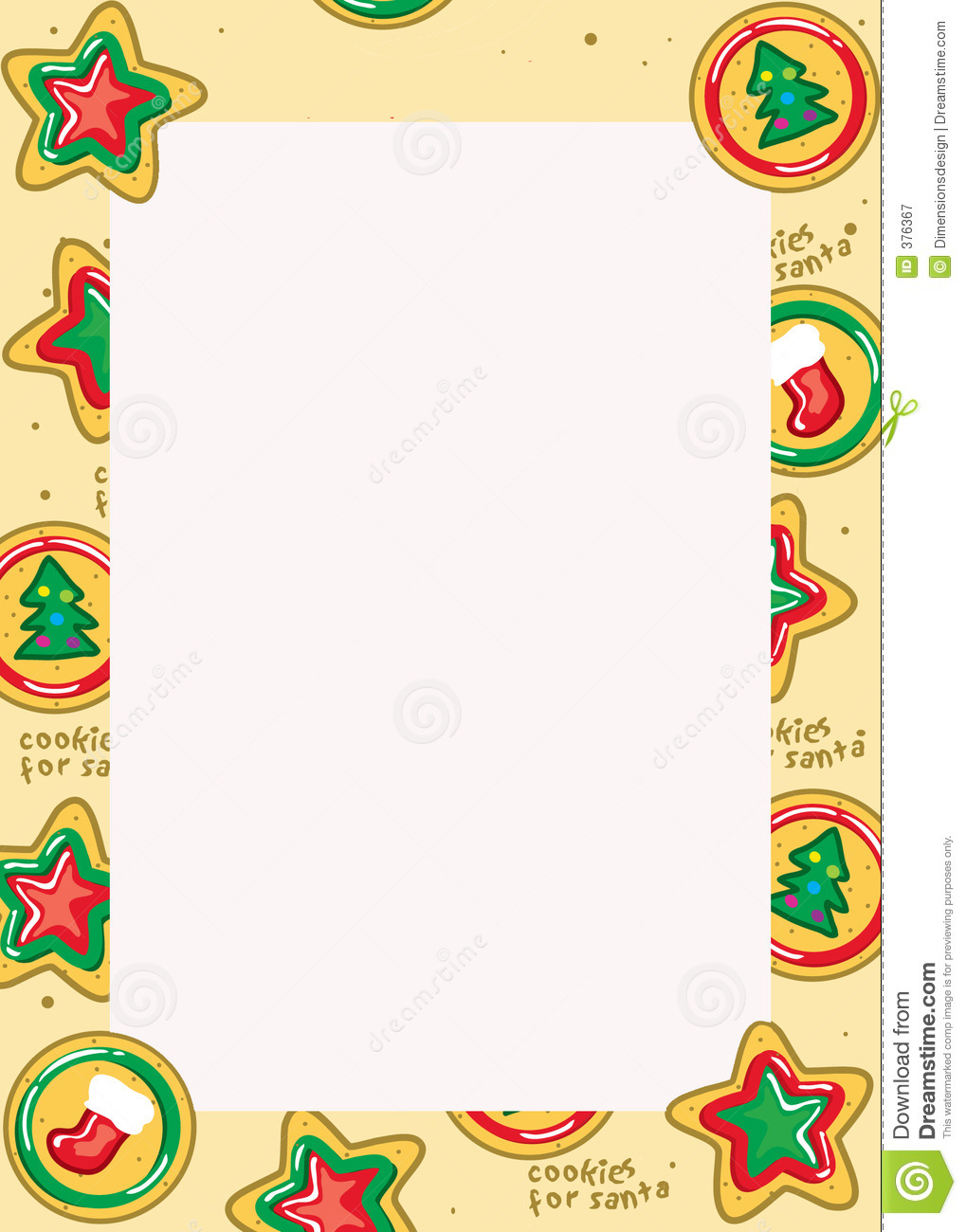 Christmas Cookie Border Royalty Free Stock Photography   Image  376367