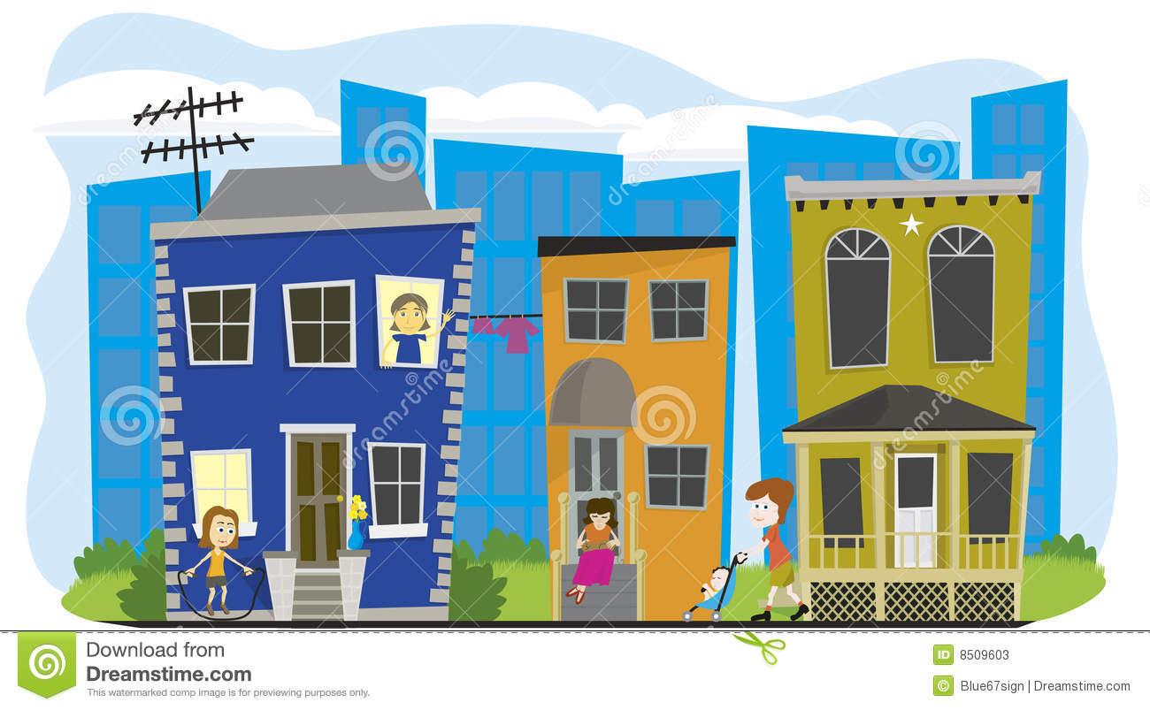 Neighborhood Street Clipart - Clipart Suggest