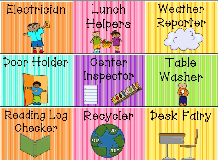 kindergarten clipart classroom jobs - photo #34