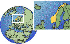 Norway Map Globe on norway outline,