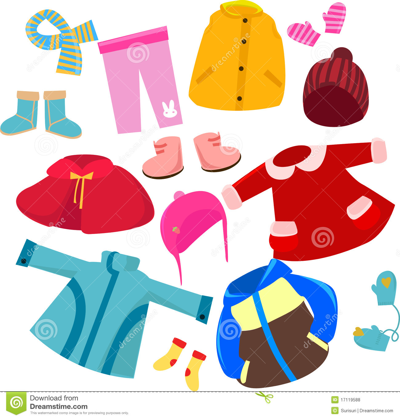 Fall Clothes Clip Art Clothes Set