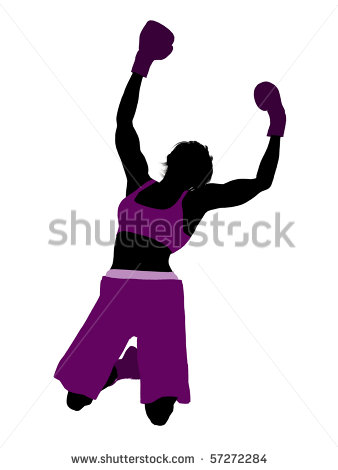 Female Boxing Clip Art Female Boxing Art Illustration