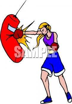 Girl Boxer Cartoon
