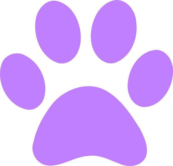 Green Bear Paw Clip Art Light Purple Paw Print Clip # ...