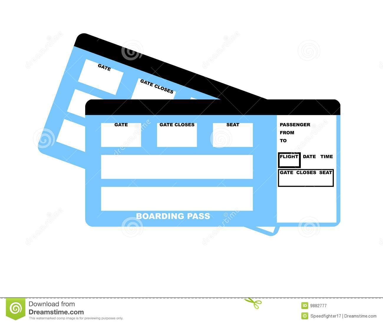 Blank Plane Ticket Clipart - Clipart Kid