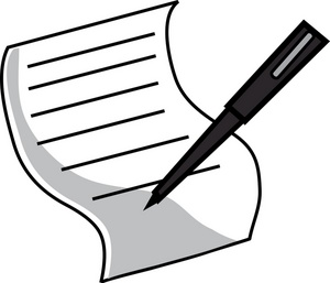 Legal Document Clipart Image   Pen And Paper Legal Document With Pen
