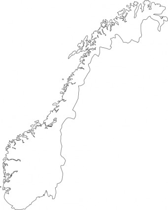 Map Of Norway Clip Art Free Vector In Open Office Drawing Svg    Svg
