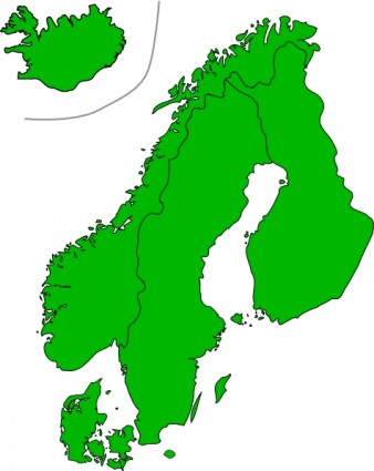 Map Of Scandinavia Clip Art Free Vector In Open Office Drawing Svg