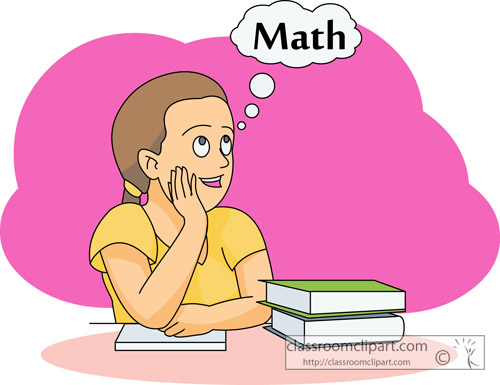 Mathematics   Student Thinking Math   Classroom Clipart