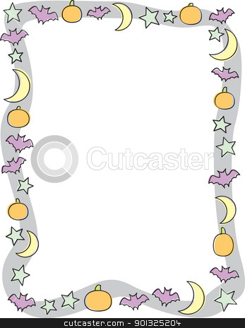 Night Border Stock Vector Clipart A Fun Halloween Night Border