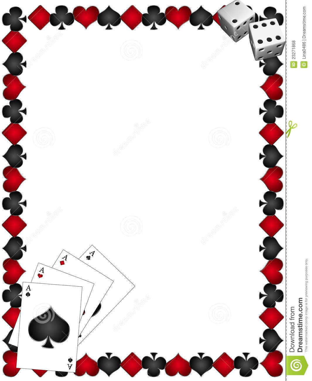 Playing Cards With Border Royalty Free Stock Photos   Image  23271868