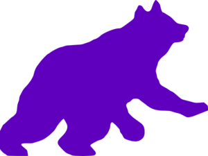 Purple Bear Clip Art At Clker Com   Vector Clip Art Online Royalty