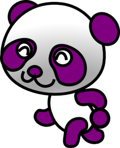 Purple Panda Clip Art At Clker Com   Vector Clip Art Online Royalty