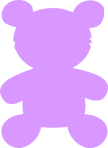 Purple Teddy Bear Clip Art