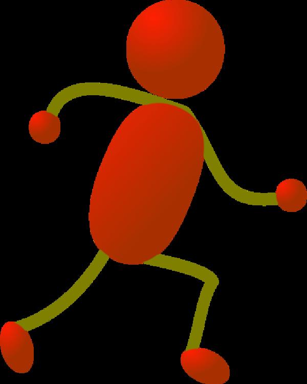 Stick Man Running Clipart - Clipart Kid