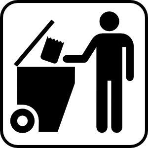 Trash Disposal Clip Art At Clker Com   Vector Clip Art Online Royalty