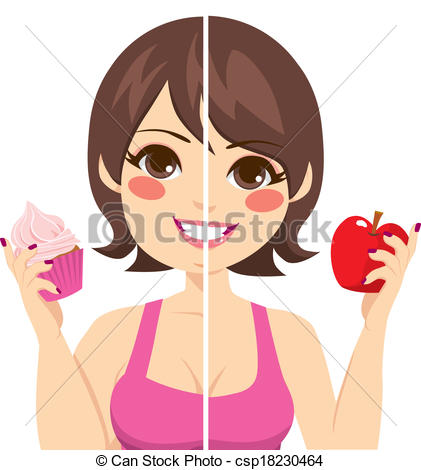 Vector Of Before After Diet   Illustration Of Woman Face Split Before