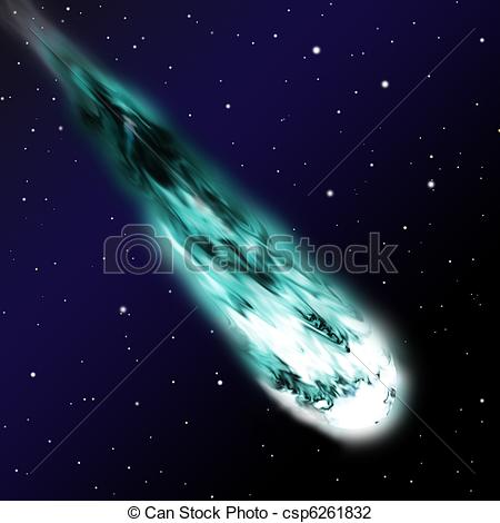 Clip Art Of Comet Csp6261832   Search Clipart Illustration Drawings