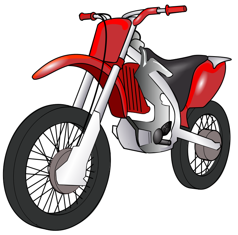 Clipart Motorcycle Free Red Motorcycle Clip Art
