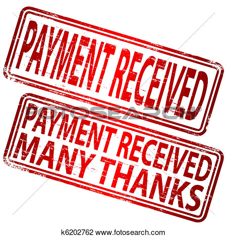 Clipart   Payment Received Stamp  Fotosearch   Search Clip Art
