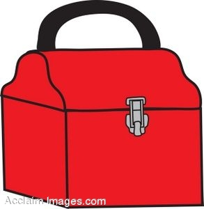 Description  Clip Art Of A Red Tool Box With A Locking Clasp  Clipart