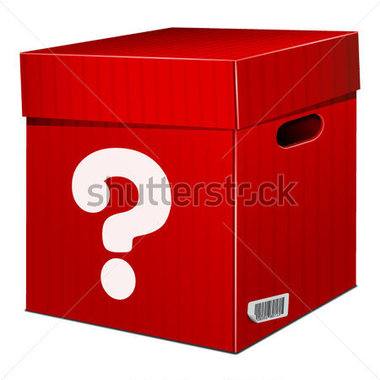 Mystery Red Box With Question Stock Vector   Clipart Me