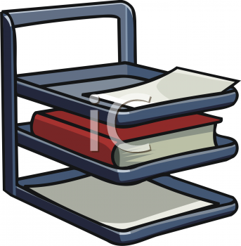 Paper Tray Clipart Books Clipart
