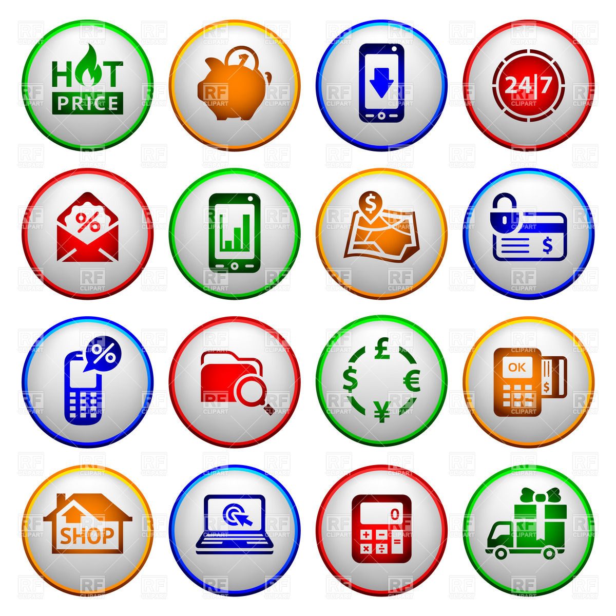 Payment And Delivery Icons Download Royalty Free Vector Clipart  Eps