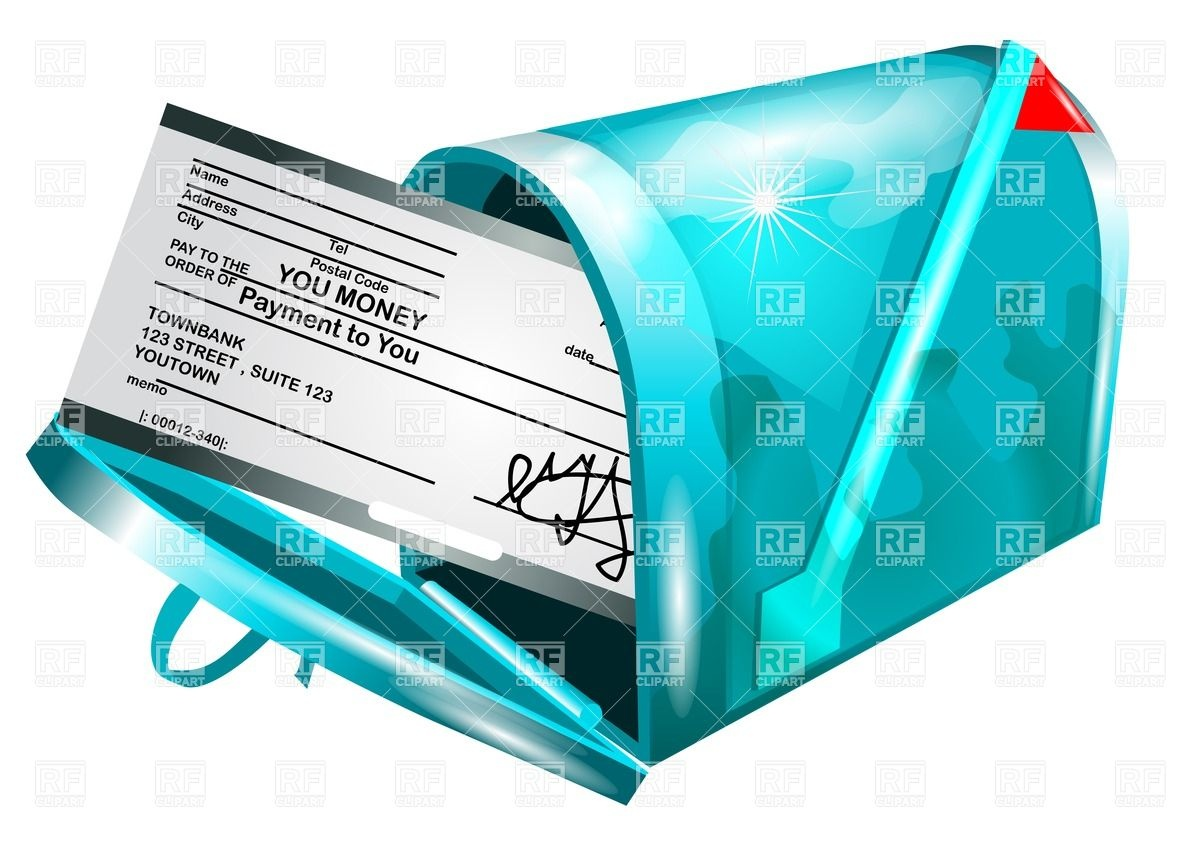 Payment Clipart Money Check Payment In Mailbox