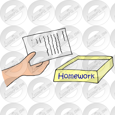 Picture For Classroom   Therapy Use   Great Turn In Homework Clipart